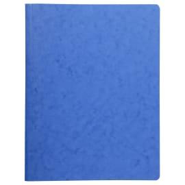 EXACOMPTA Chemise à lamelles et compresseur, capacité 350 feuilles perforées, carte lustrée coloris Bleu photo du produit
