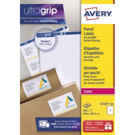 AVERY Boîte de 100 étiquettes Laser Blanc 199,6X289,1mm L7167-100 photo du produit