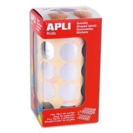 AGIPA Rouleaux de gommettes rondes 20mm couleur argent photo du produit