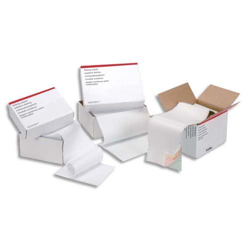 Boîte de 2000 paravents listing format 240x12'' Blanc 70 grammes bande caroll détachable photo du produit Principale L