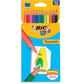 BIC Etui 12 crayons de couleur TROPICOLOR2 (version sans bois). Coloris assortis photo du produit