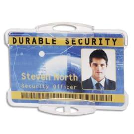 DURABLE Boîte 10 Porte-badges ouvert pour 1 carte format portrait ou paysage - L85 x H54 mm - Transparent photo du produit