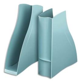 CEP Porte-revues Ellypse en polystyrène - Dimensions : H32,5 x P27,8 cm, Dos 8,3 cm Vert d'eau photo du produit