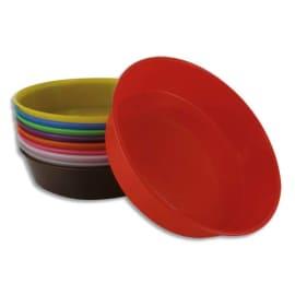 O COLOR Lot de 10 assiettes peintures ou tri, couleurs assorties, diamètre 13 cm photo du produit
