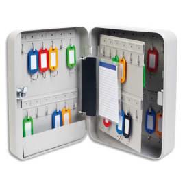 Armoire à clés capacité 48 clés Grise - Dimensions : L18 x H25 x P8 cm photo du produit