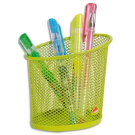 ALBA Pot à crayons en métal Mesh - Diamètre 6, hauteur 10,5 cm coloris Vert photo du produit