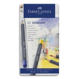 FABER CASTELL Etui de 12 crayons de couleur GOLDFABER. Coloris assortis photo du produit