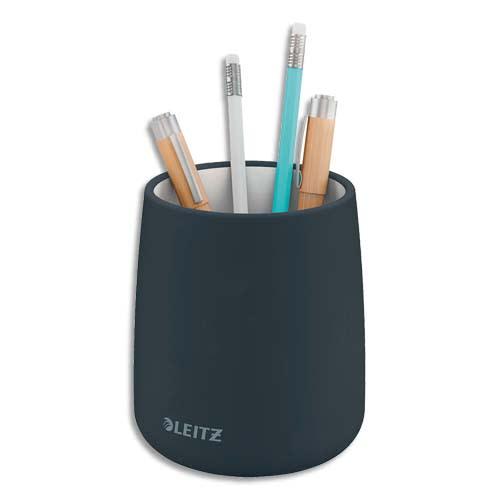 LEITZ Pot à crayons COSY. Dimensions : L9,2 x H13,8 x P9,2 cm. Coloris gris foncé. photo du produit Principale L
