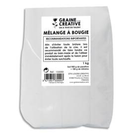 GRAINE CREATIVE Sachet de 1 kg de paraffine Blanche pour fabriquer des bougies photo du produit