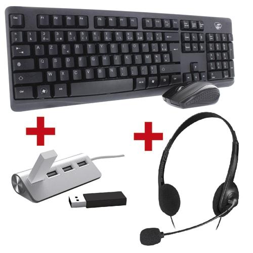 MOBILITY LAB Lot composé d'un hub + un clavier / souris + un casque photo du produit Principale L