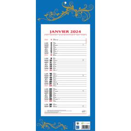 CBG Plaque et éphéméride mensuel 411 bleu rouge - format : 19 x 42 cm photo du produit