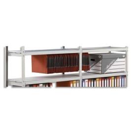 PAPERFLOW Lot de 6 plateaux Isorel pour rayonnage Rang'Eco - Longueur 100 cm, profondeur 37 cm photo du produit