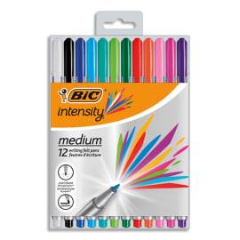 BIC Pack semi durable de 12 feutres d'écriture INTENSITY pointe Medium photo du produit