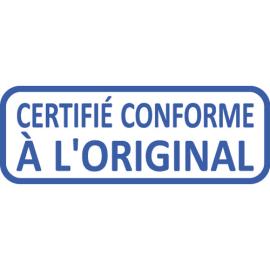 TRODAT Timbre formule CERTIFIE CONFORME A L'ORIGINAL - Xprint à encr.auto.Bleu. Dim.empreinte 45x16mm photo du produit