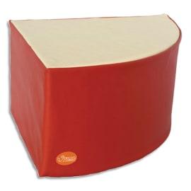 SUMO Pouf en mousse forme triangulaire 53x53x30cm Rouge/ Beige photo du produit