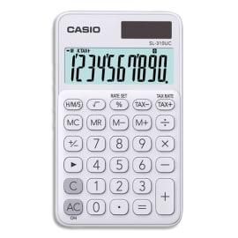CASIO Calculatrice de poche 10 chiffres Blanche SL-310UC-WE-S-EC photo du produit