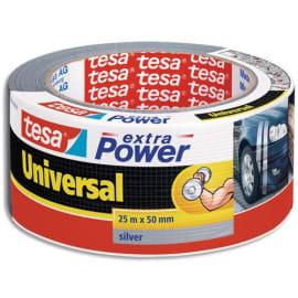 TESA Rouleau de toile adhésive renforcée 25m x 50 mm coloris Gris photo du produit