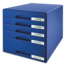 LEITZ Bloc de classement Leitz Plus 5 tiroirs - Bleu - L28,7 x H27 x P36,3 cm photo du produit