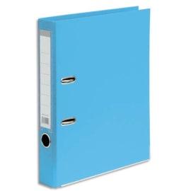 Classeur à levier en polypropylène intérieur/extérieur. Dos 5 cm. Format A4. Coloris Bleu ciel. photo du produit