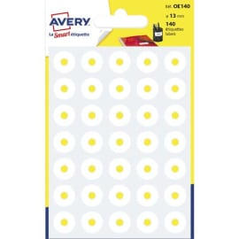 AVERY Sachet de 140 œillets diamètre 13 mm Blanc. photo du produit
