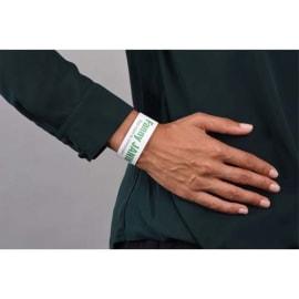 AVERY Sachet de 50 Bracelets d identification imprimables Laser Blanc 26,5 x 1,8 cm photo du produit