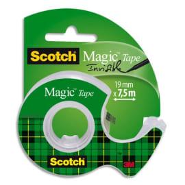 SCOTCH Ruban adhésif invisible 19mm x 7,5m, sur dévidoir plastique, 810 photo du produit