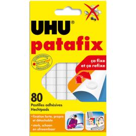 UHU Etui de 6 bandes prédécoupées de 80 pastilles Patafix Blanche photo du produit