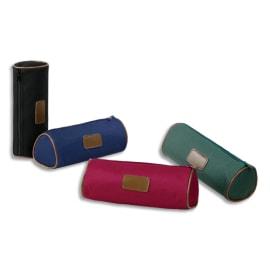 VIQUEL Trousse ronde NEW LUXE 20,5 x 7,5 x 7,5 cm Toile Assortis : Noir-Marine-Vert-Bordeaux photo du produit