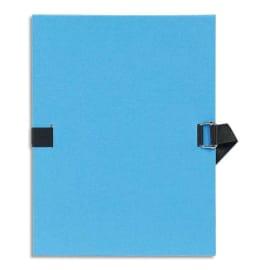 EXACOMPTA Chemise extensible Varia 2230, recouverte de papier grainé Bleu clair photo du produit