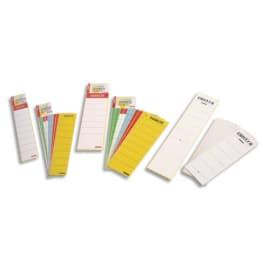 ESSELTE Sachet de 10 étiquettes adhésives pour classeur à levier à dos large coloris Blanc photo du produit