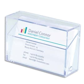 SIGEL Boîte pour cartes de visite plastique rigide, capacité 100 cartes L9,5 x H6 x P3 cm transparent photo du produit