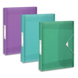 ESSELTE Boîte de classement Colour Ice dos de 4 cm, en polypropylène 7/10ème. Coloris assortis photo du produit