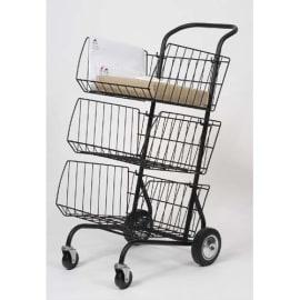 ALBA Chariot courrier 3 étages 62 x 95 x 46 cm - structure en fil métal peint photo du produit