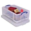 RLU Boîte de rangement 50 Litres + couvercle - Dimensions : L71 x H23 x P44 cm coloris transparent photo du produit