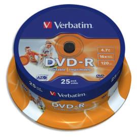 VERBATIM tour de 25 DVD imprimable 16x 43538 photo du produit
