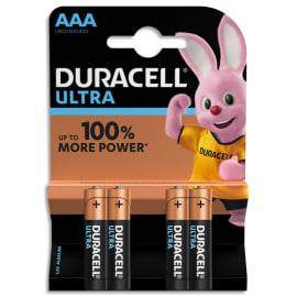 DURACELL Blister de 4 piles Alcalines 1,5V AAA LR03 Ultra Power Duralock 5000394002692 photo du produit