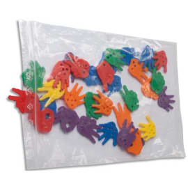 Paquet de 100 sacs, fermeture rapide en polyéthylène 50 microns - Dim. 25 x 35 cm transparent photo du produit