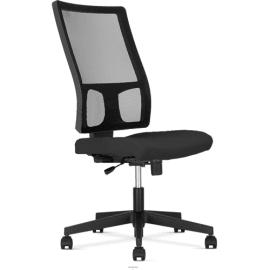 Siège Square dossier résille et assise en tissu Noir, à mécanisme synchrone, sans accoudoirs photo du produit