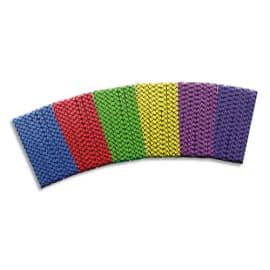 FIRST LOISIRS Lot de 6 élastiques de saut, longueur 3 m, à nouer, couleurs assorties photo du produit