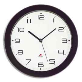 ALBA Horloge murale Hornew silencieuse Noire, pile AA non fournie - Diamètre 30 cm photo du produit