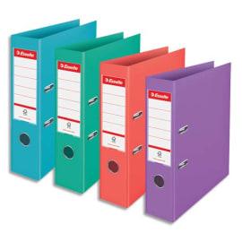 ESSELTE Classeur à levier Colour ice Standard en polypropylène, dos de 7,5 cm. Coloris assortis photo du produit