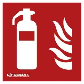 LIFEBOX Panneau de signalisation présence d'extincteur photo du produit
