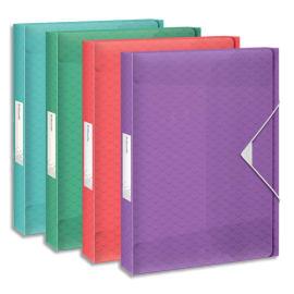 ESSELTE Boîte de classement Colour Ice dos de 2,5 cm, en polypropylène 7/10ème. Coloris assortis photo du produit