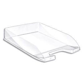 Corbeille à courrier en polystyrène jusqu'au format 24x32 cm Dim L35 x H6,5 x P25,5 cm cristal photo du produit