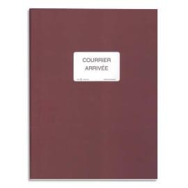 ELVE Registre pour enregistrement du courrier arrivée 150 pages, 25x32cm.Coloris Bordeaux SP420 photo du produit