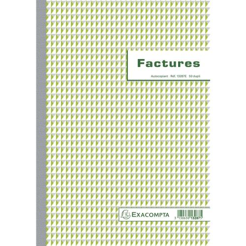 EXACOMPTA Manifold Factures 29,7x21cm - 50 feuillets dupli autocopiants photo du produit Principale L