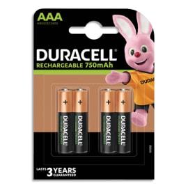 DURACELL Blister de 4 accus rechargeables 1,2V AAA HR3 750mAh 5000394090231 photo du produit