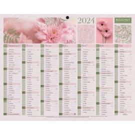 CBG Calendrier Mini Fleurs, 7 mois par face soit 14 mois - format : 21 x 26,5 cm photo du produit