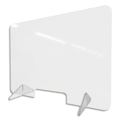 Vitre de protection en Plexiglass. Dimensions l95xh70cm. Epaisseur 3mm et pieds 8mm. photo du produit Principale L