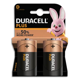 DURACELL Blister de 2 Piles Alcaline 1,5V D LR20 Plus Power 5000394019171 photo du produit